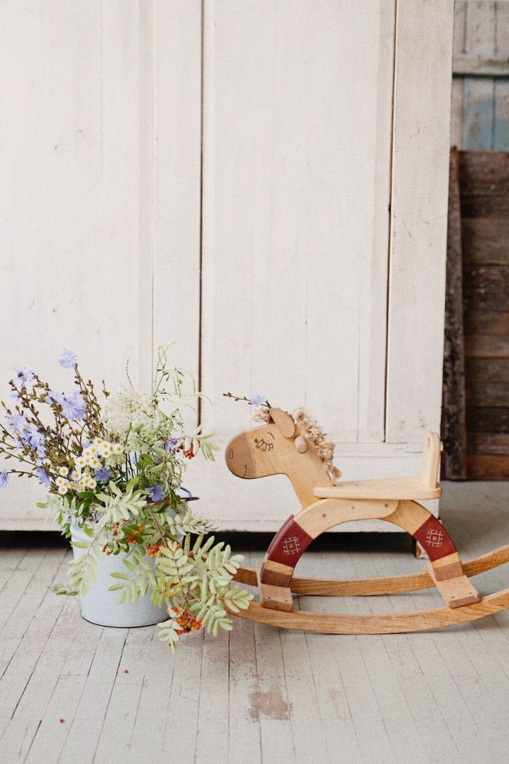 Handmade wooden toy, wooden rocking horse by Friendly Toys