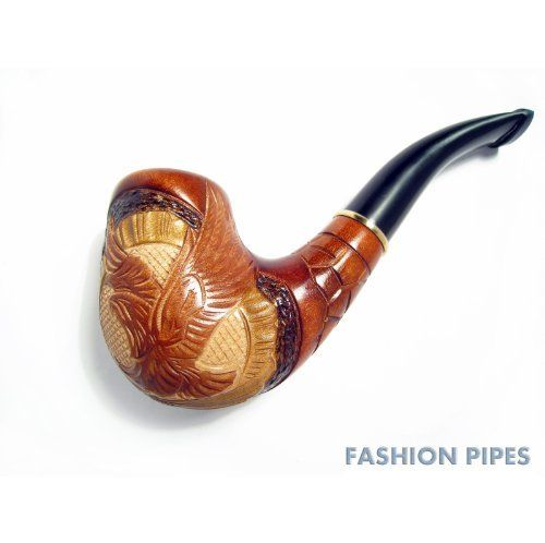 Fashion Decorated Smoking Pipe Carved Pear Root Wood American Eagle + POUCH GIFT! - BEST PRICE IN FPS!!! by Fashion Pipes. $32.90. Our products are made by professional master of Ukraine with the author's sign  Using natural high quality materials  For the manufacture of pipe was used pear wood, aged in natural drying for at least 2 years. Unique handmade carved pipe with a jeweler's precision.  Design worthy of true professionals !  Shading pipes made of ...