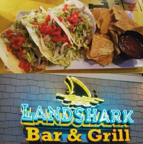 LandShark Bar & Grill is the perfect blend of ocean breezes, boardwalk action, spectacular views, great food, generous drinks, your favorite beach tunes and good old fashion fun. | Click on the pin when you are ready for more info and additional places to satisfy your appetite in the Myrtle Beach SC area. | Photo via IG user @trio314