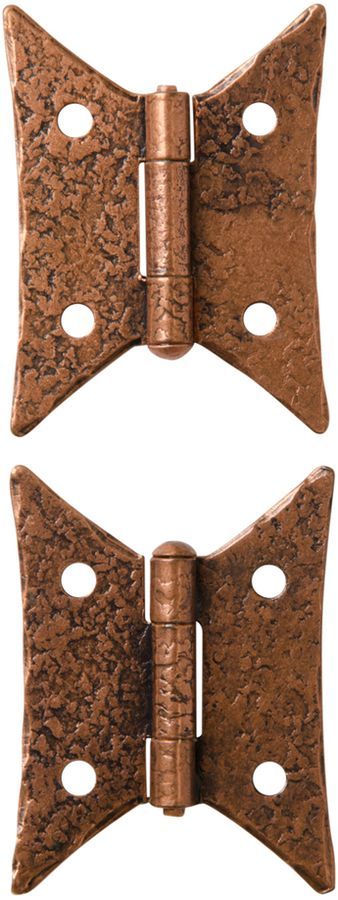 Rejuvenation Pair of Copper Plated Butterfly Hinges by McKinney