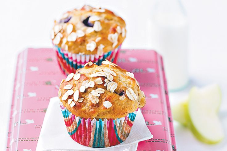 Add fresh bananas to classic blueberry muffins for a twist on this traditional favourite.