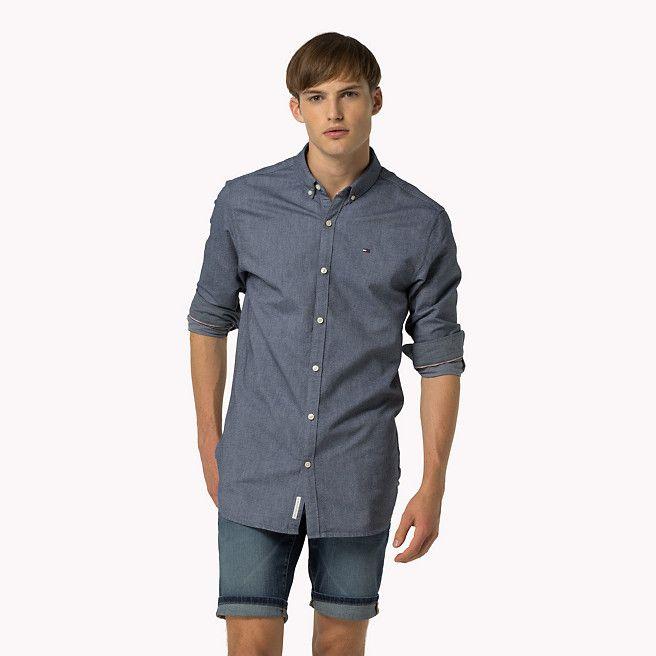 69,90 euro Camicia in tessuto Oxford di cotone di Tommy Hilfiger - black iris (Blue) - camicie casual di Tommy Hilfiger - immagine dettaglio 1