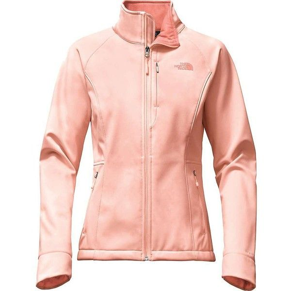 The North Face Women's Apex Bionic 2 Jacket ($149) ❤ liked on Polyvore featuring activewear, activewear jackets, tropical peach, logo sportswear and the north face