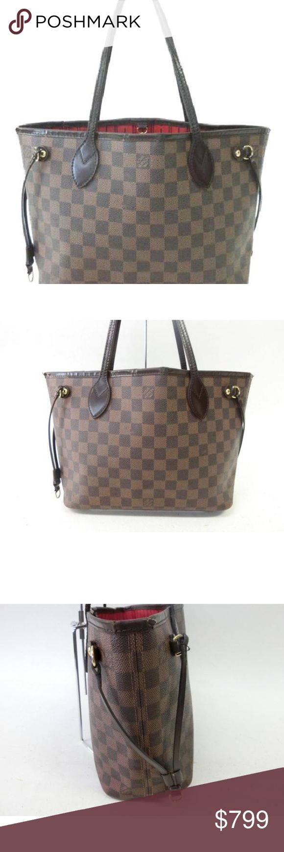 Louis Vuitton neverfull damier ebene pm Here she is the ever so popular neverfull in beautiful damier ebene! This is the must have bag right now! Get yours here at a fraction of the cost. Pre-loved with noticeable signs of wear on trim ware and scuffing. Louis Vuitton Bags Totes