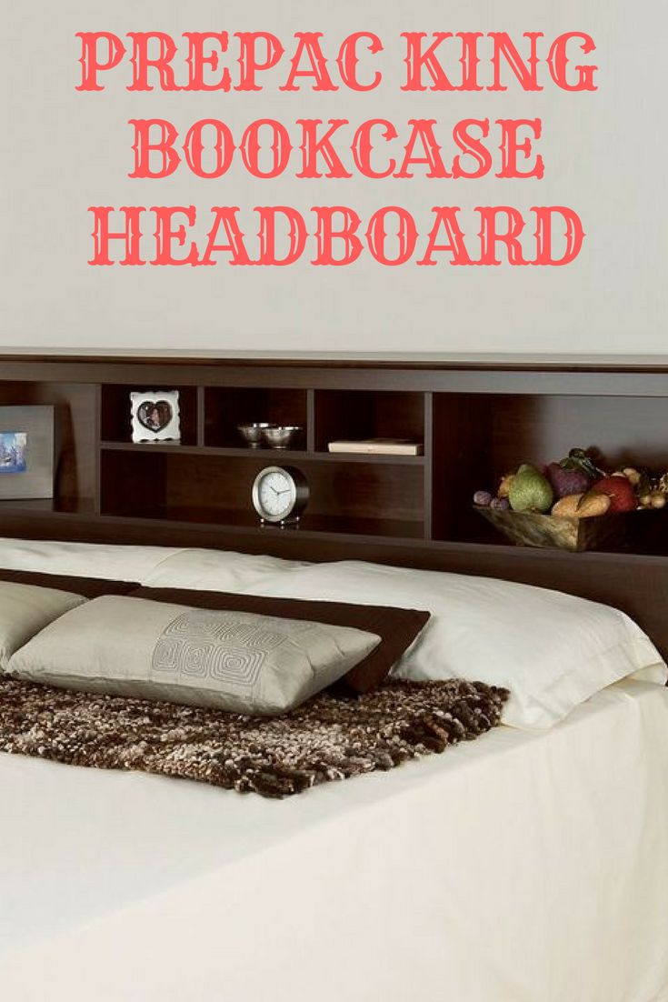 Complete your bedroom with this Prepac bookcase style