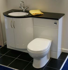 Bathroom Suite, Vanity Unit, Basin + Toilet, Sinks, WC