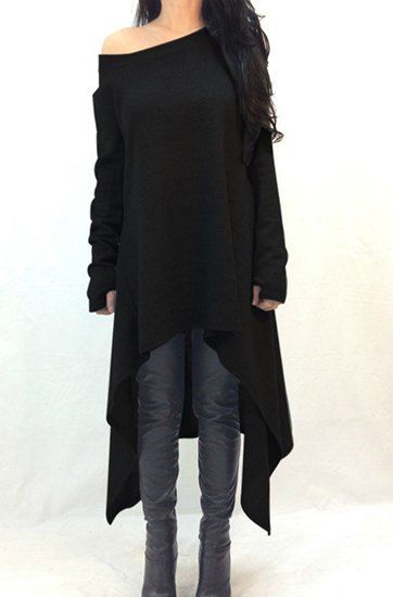 cozy oversized sweater dress with jeans +