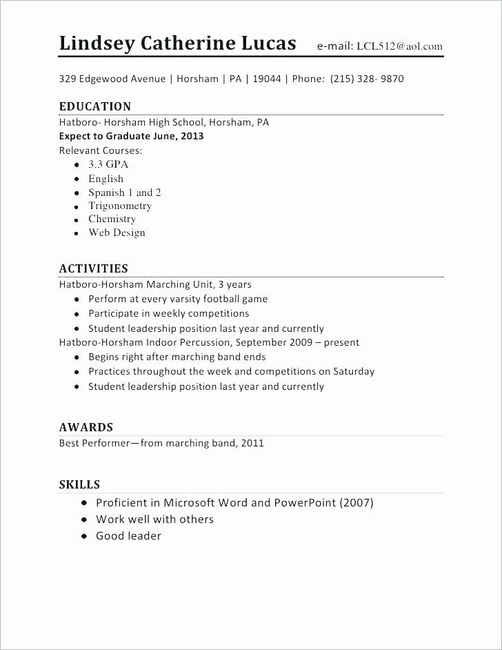 25 First Job Resume Template In 2020 With Images Student