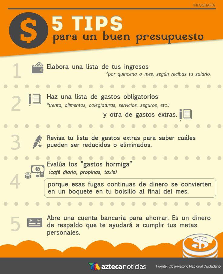 5 tips para un buen presupuesto