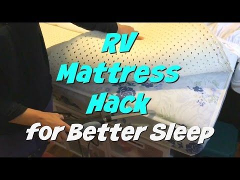 RV Mattress Hack   How to Create a Comfortable Bed for Less Money with this one easy item! You need to get one now!