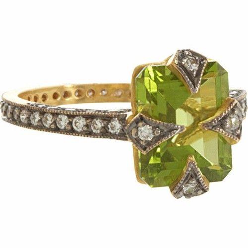 Cathy Waterman Peridot thorn ring. Barney's.