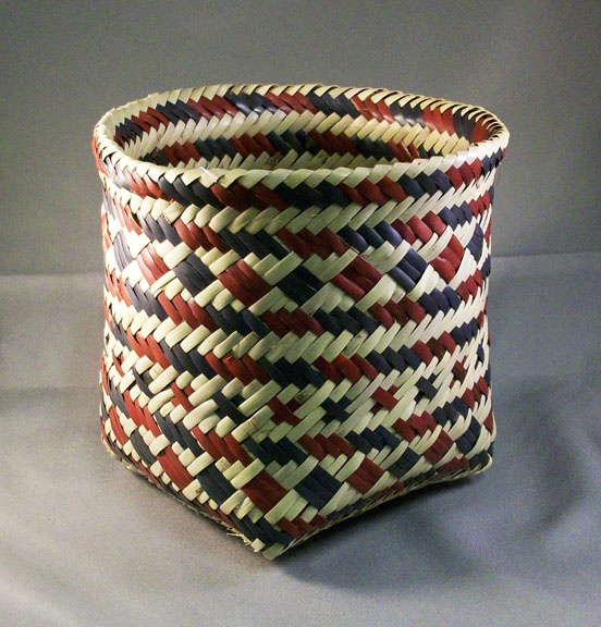 Native American Basket Weaving Instructions : Best diagonal weave baskets images on