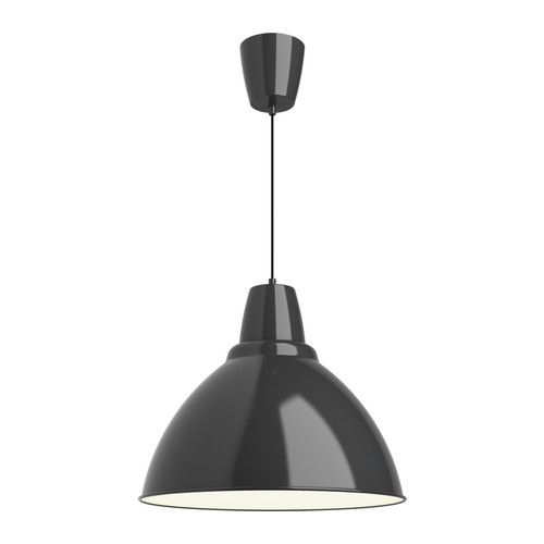 FOTO Pendant lamp IKEA Gives a directed light; good for lighting up for example dining tables or bar tops. £22 @ 50cm