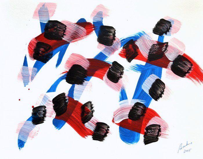 Marcel Barbeau, Sans titre 2, 2005, acrylic sur papier