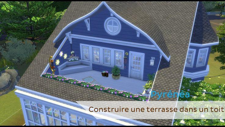 Tutoriel Faire Un Toit Terrasse Sims 4 Sims 4 House Design Sims House Sims 4 Toddler Bed