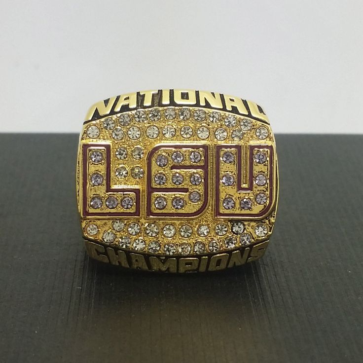 Solid 2003 Louisiana State University LSU Tigers NCAA National College Football Championship Copper Ring 8-14Size