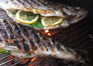 and Citrus-Stuffed Grilled Trout   What's Cookin'   Pinterest   Trout...