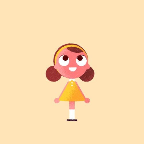 Ella, the star of Rain or Shine, taken from some 2D animation tests I made as reference for the CG animators at Nexus Productions.
