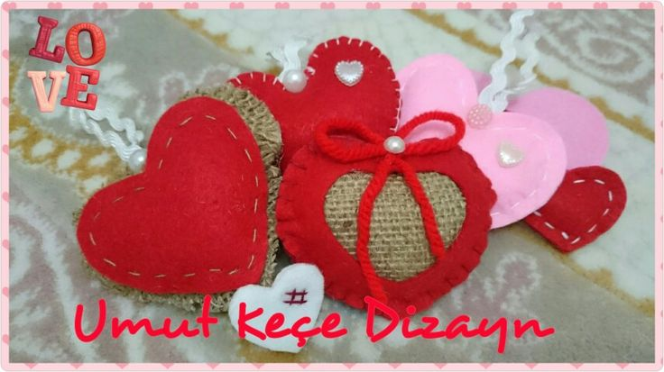 Keçe, keçeden kalp, keçeden dekor, felt decoration, felt heart, felt crown, umut keçe Dizayn, Turgutreis, Bodrum