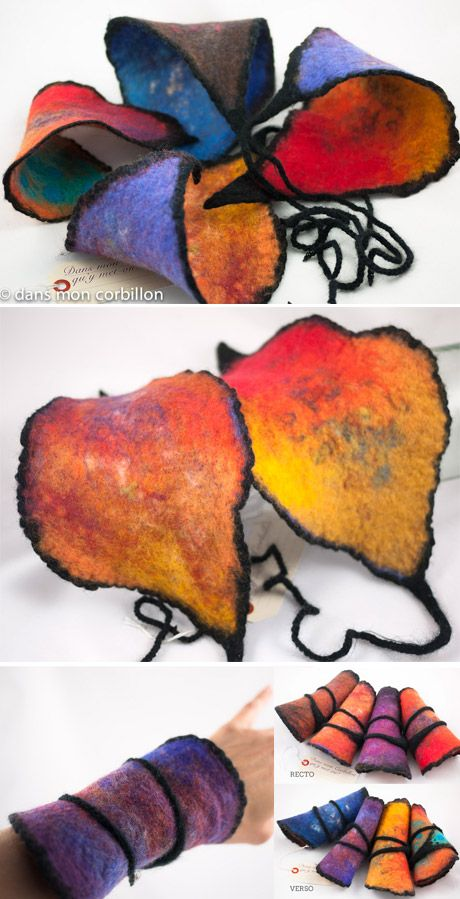 Felted wool Manchettes_Reverso by My Corbillon