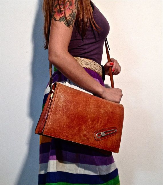 cross body brown vintage leather western bag by ilvecchioarmadio, €28.00