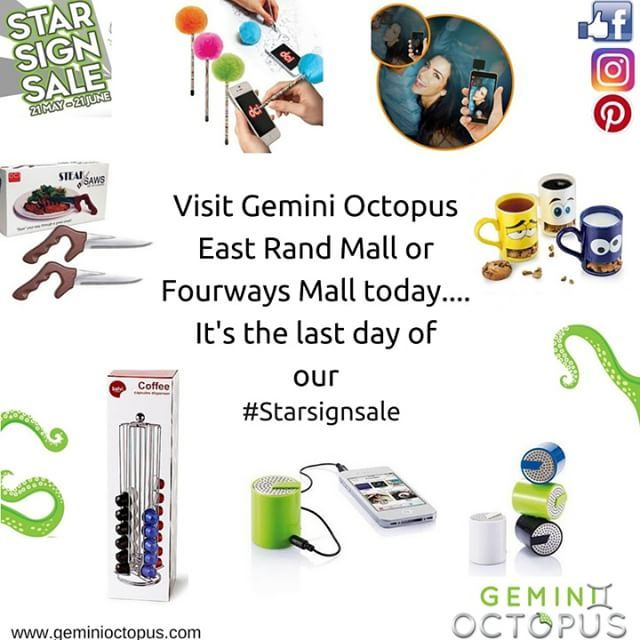 Last day of our #starsignsale... Up to 50% OFF on all products in our stores!!! @eastrandmall @fourwaysmall