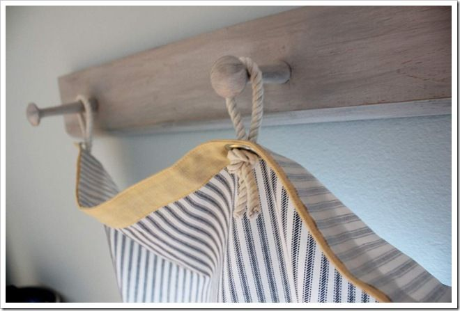 Laundry Room Curtains With A Nautical Flair Rope Decor