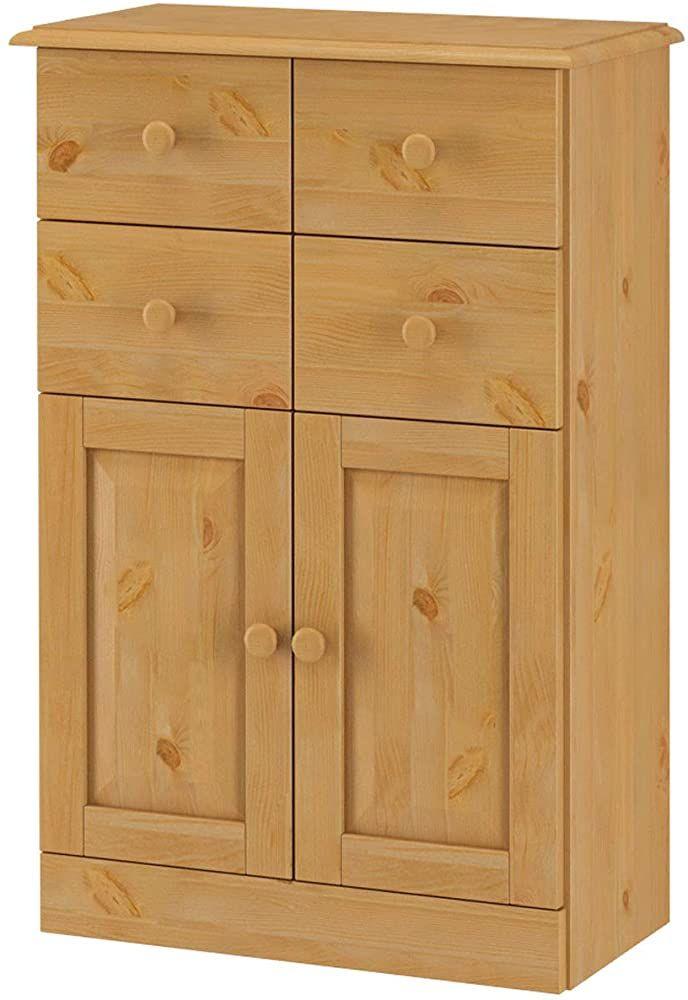 Loft24 Badezimmerschrank Natur Badschrank Kiefer Massivholz