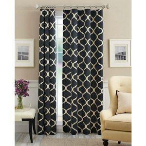 Mainstays canvas iron work curtain panel walmart - Walmart canada furniture living room ...