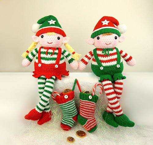 Evie and Elvis the Christmas elves amigurumi pattern by ...