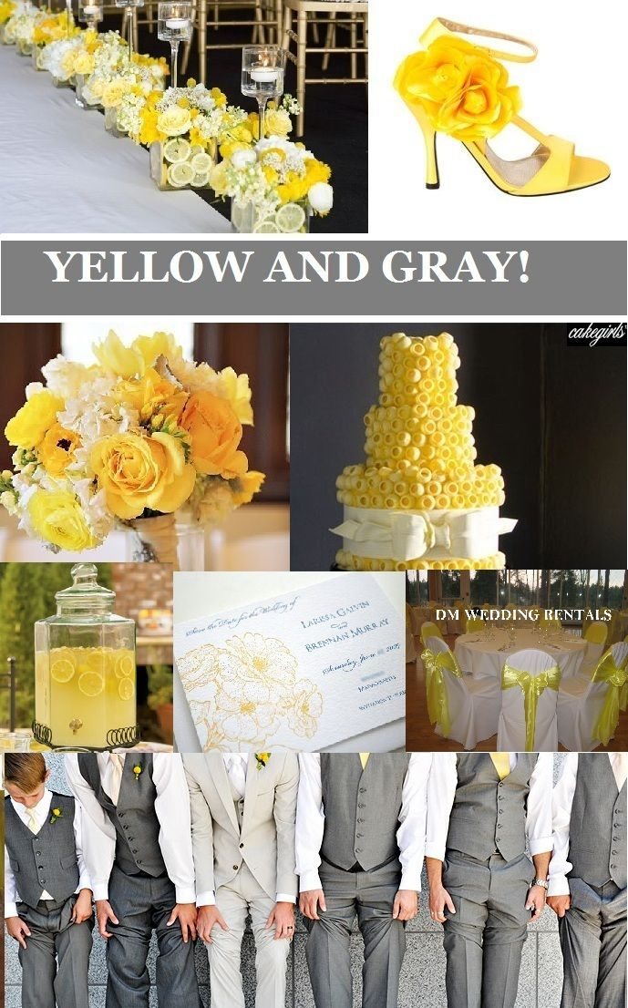 17 best Grey and Yellow Weddings images on Pinterest | Yellow ...