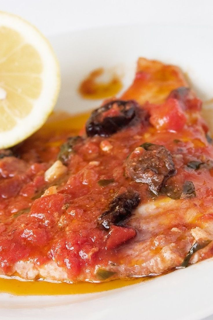 Fish Fillets Italiano Dinner Recipe With Olive Oil Onion Garlic Diced Tomatoes Black Olives Parsley Dry White Wine A Recipes Fish Recipes Dinner Recipes