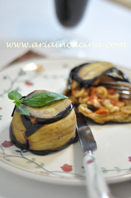 Timballino vegetariano di anelletti siciliani
