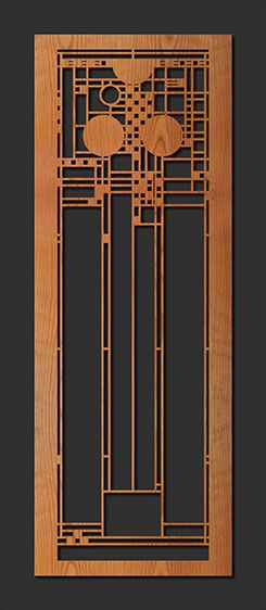 Frank Lloyd Wright Element - Decorative Laser Cut Wood Elements