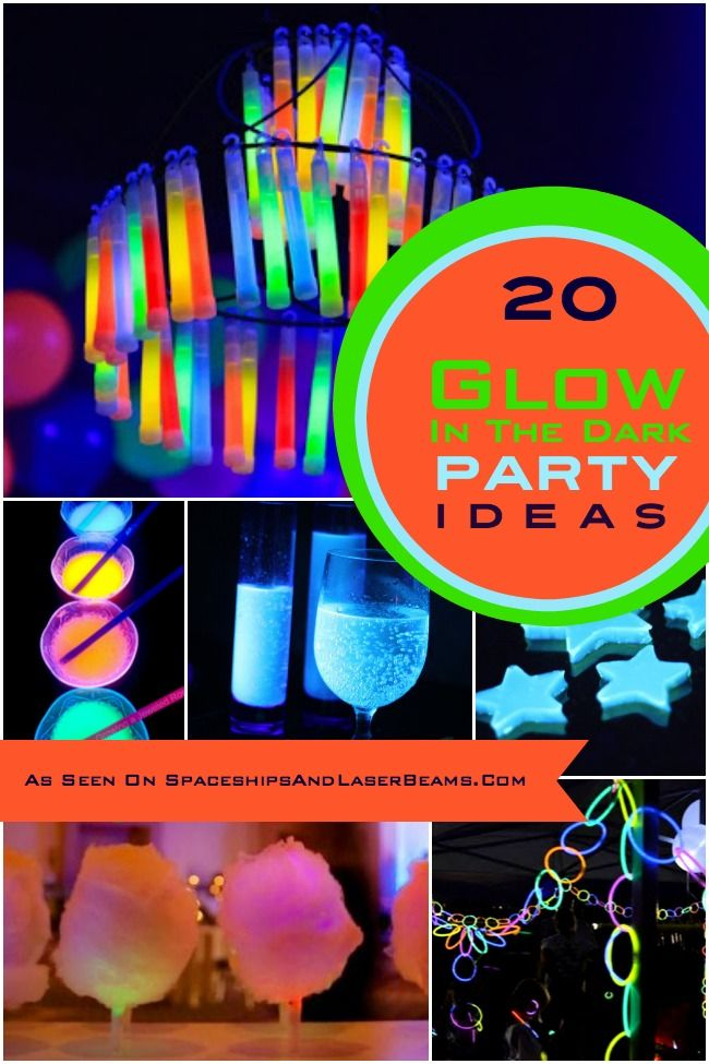 20 Glow in the Dark Party Ideas - Spaceships and Laser Beams