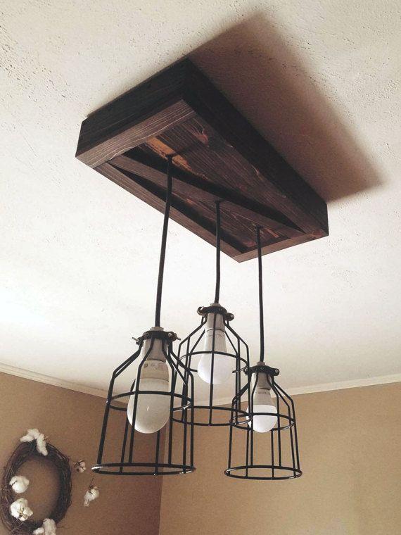 25 beste idee n over rustieke verlichting op pinterest rustieke lampen industri le - Eigentijdse hangerlamp ...