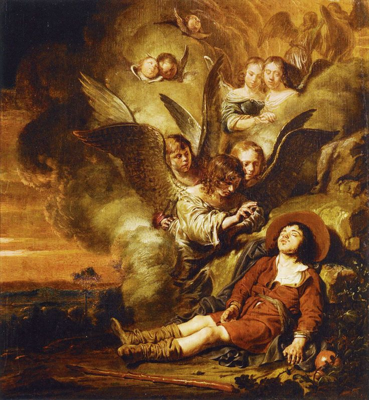 Salomon de Bray Jacob's Dream c. 1655-60 38 x 34.8 cm Oil on panel Museum voor religieuze kunst, Uden