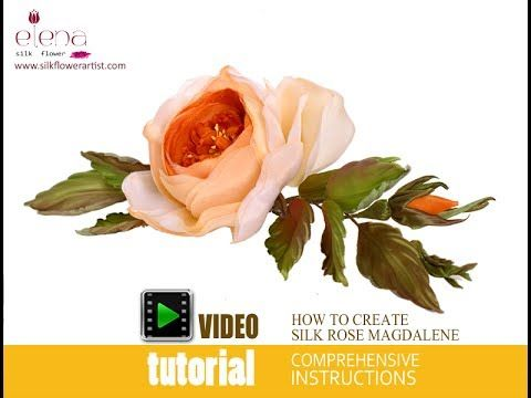 New complete video tutorial silk rose Magdalene by Elena Bain ❤ https://www.youtube.com/watch?v=fAqvcN7ucy8