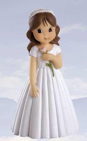 Figura niña flor Primera Comunión Figura 7 cemtimetros recuerdos de comunion - 1.20€ : Cosas43, detalles y regalos para los invitados, boda, comunión y bautizo, regalos infantiles