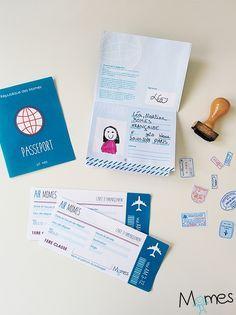 Voici un modèle de passeport à imprimer pour jouer ou même pour travailler sur l'identité et le passeport avec les élèves en classe. Ce passeport à imprimer est presque comme un vrai ! Il fait penser aux petits documents factices que l'on peut trouver lorsqu'on achète un porte-feuille, ceux que l'on donne aux enfants pour s'amuser à jouer comme les grands !
