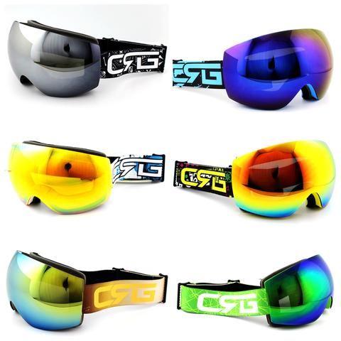 923bd05f608 Hot Sale 6 Styles New Brand Ski Goggles Double UV400 Anti-Fog Big Ski Mask Glasses  Skiing Men Women Snow Snowboard Goggles