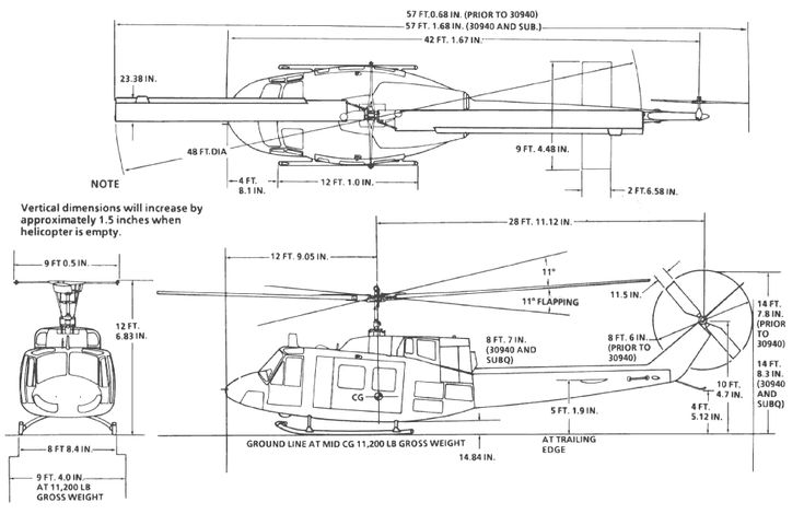 Free Blueprint Bell 212 Helicopter Quality 3d Models Airplane Basic