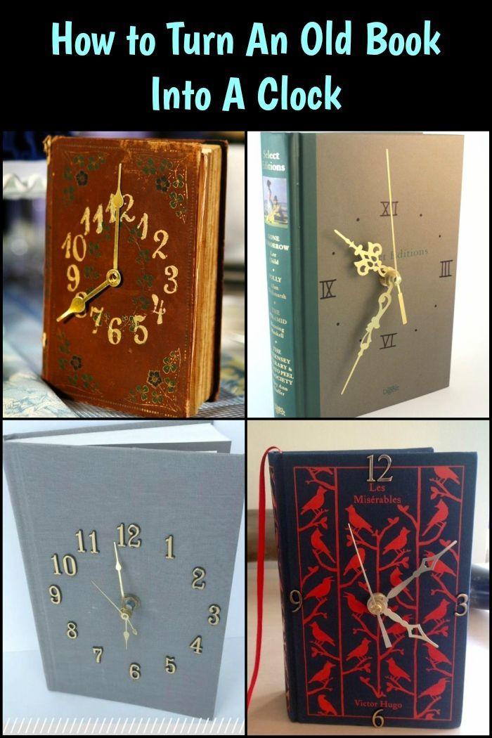 Upcycle One Hardbound Book in eine schöne Uhr!
