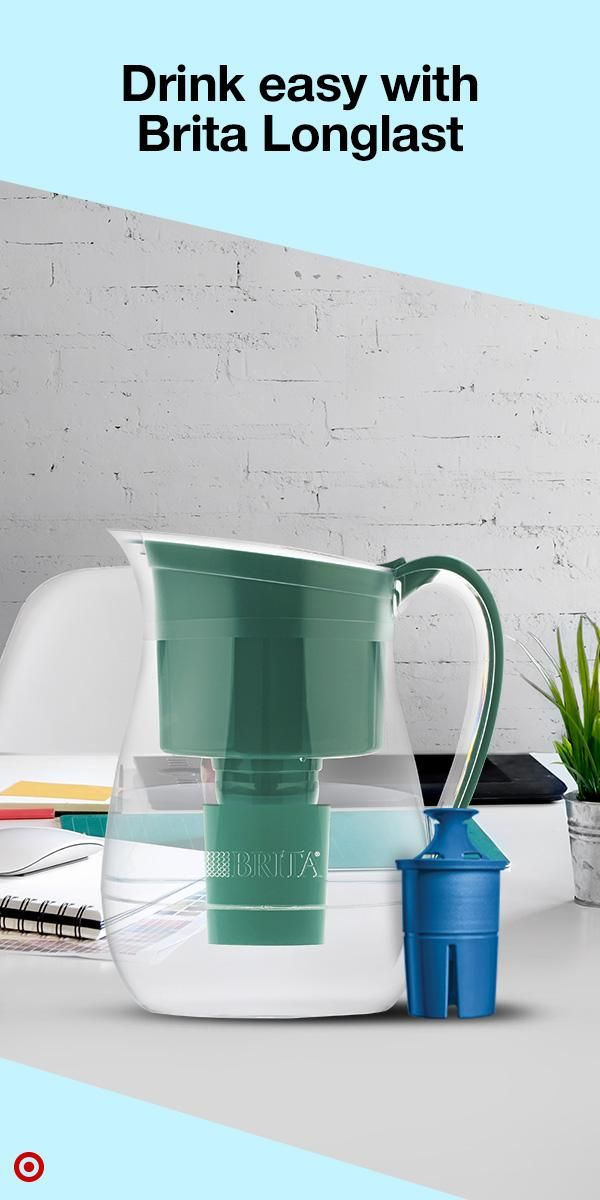 Hydrate yourself all-day, every day with Brita Longlast pitchers