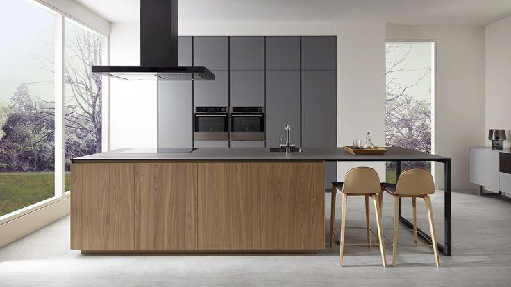 cocina de madera encimera gris - Buscar con Google