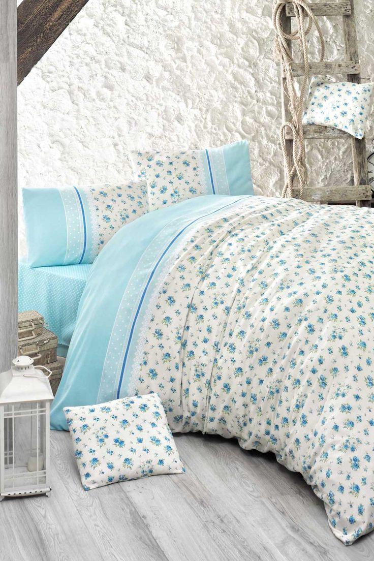 Çift Kişilik Nevresim Takımı Polycotton Fresh Mavi EP-008775 Ev & Ev Home   Trendyol