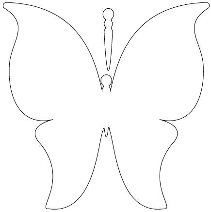 Best  Butterfly Template Ideas On   Butterfly Pattern