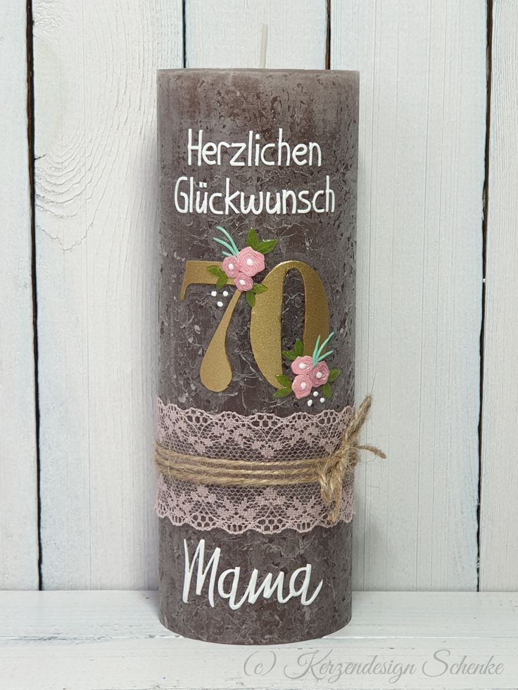 Geburtstagskerze Geburtstag Verjaardag Kaarsen Rustik Kerze