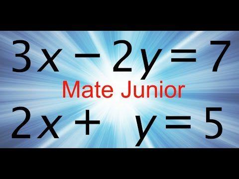 Como desarrollar ecuaciones lineales por metodo de igualacion Sigueme en facebook y YouTube como Mate Junior