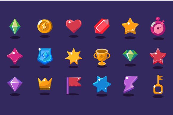 Game resources icons by TopVectors on @creativemarket